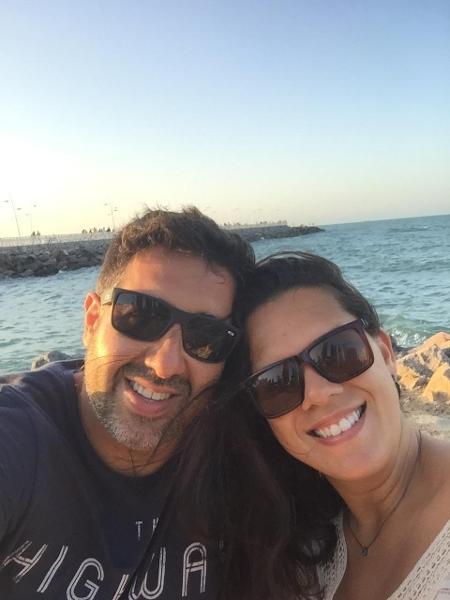 Marco Aurélio Ribeiro e Danieli Junco: uma noite inteira conversando no app - Arquivo Pessoal