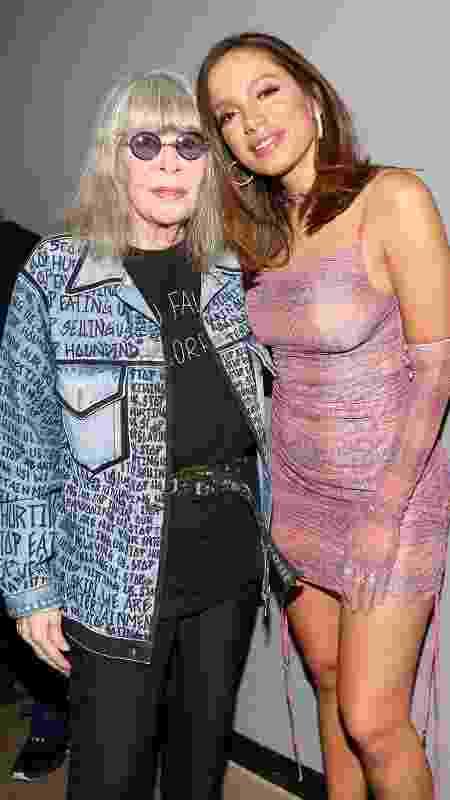 Anitta e Rita Lee no jantar beneficente  - Manuela Scarpa e Iwi Onodera/Brazil News