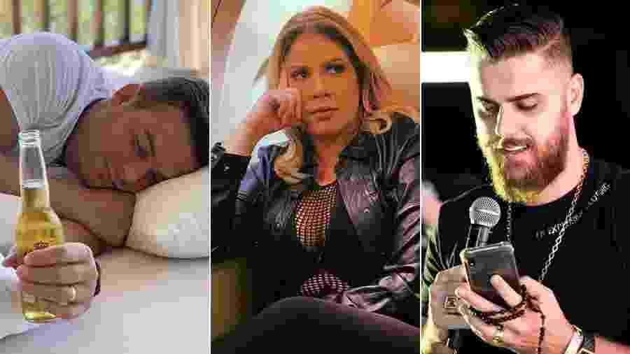 Belutti, Marília Mendonça e Zé Neto adoram expor a intimidade nas redes sociais - Montagem/UOL