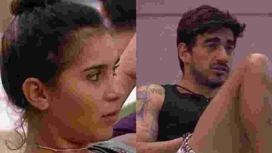 BBB 20:Guilherme e Gizelly - Reprodução/Globoplay
