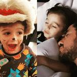 Felipe Andreoli mostra expectativa/realidade ao lado do filho Rocco - Reprodução/Instagram