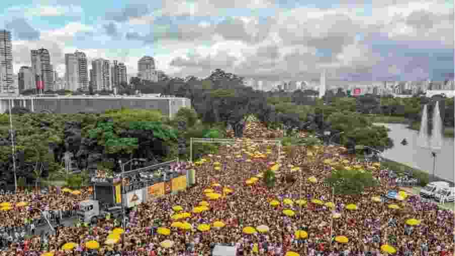 Bell Marques leva uma multidão para seu bloco no Parque do Ibirapuera, em São Paulo - Edson Lopes Jr./UOL