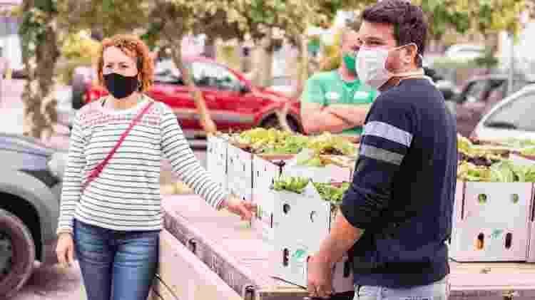 Distribuição de alimentos do projeto Orgânico Solidário - Divulgação - Divulgação
