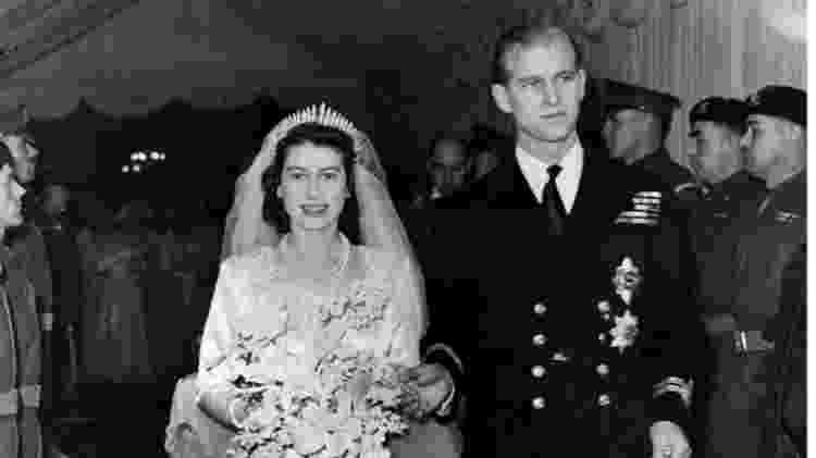Ainda princesa, Elizabeth casou com o príncipe Philip em 1947 - PA Media - PA Media