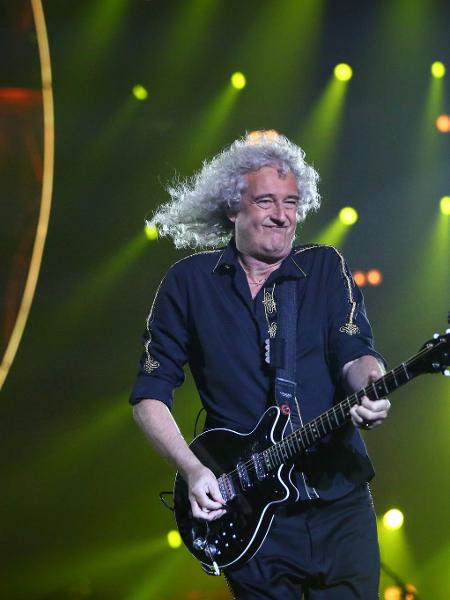 O guitarrista Brian May do Queen - Carlos Macedo/Agência Estado