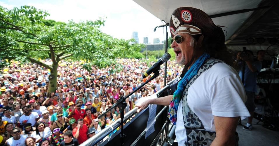 Grande público acompanha o bloco no Ibirapuera