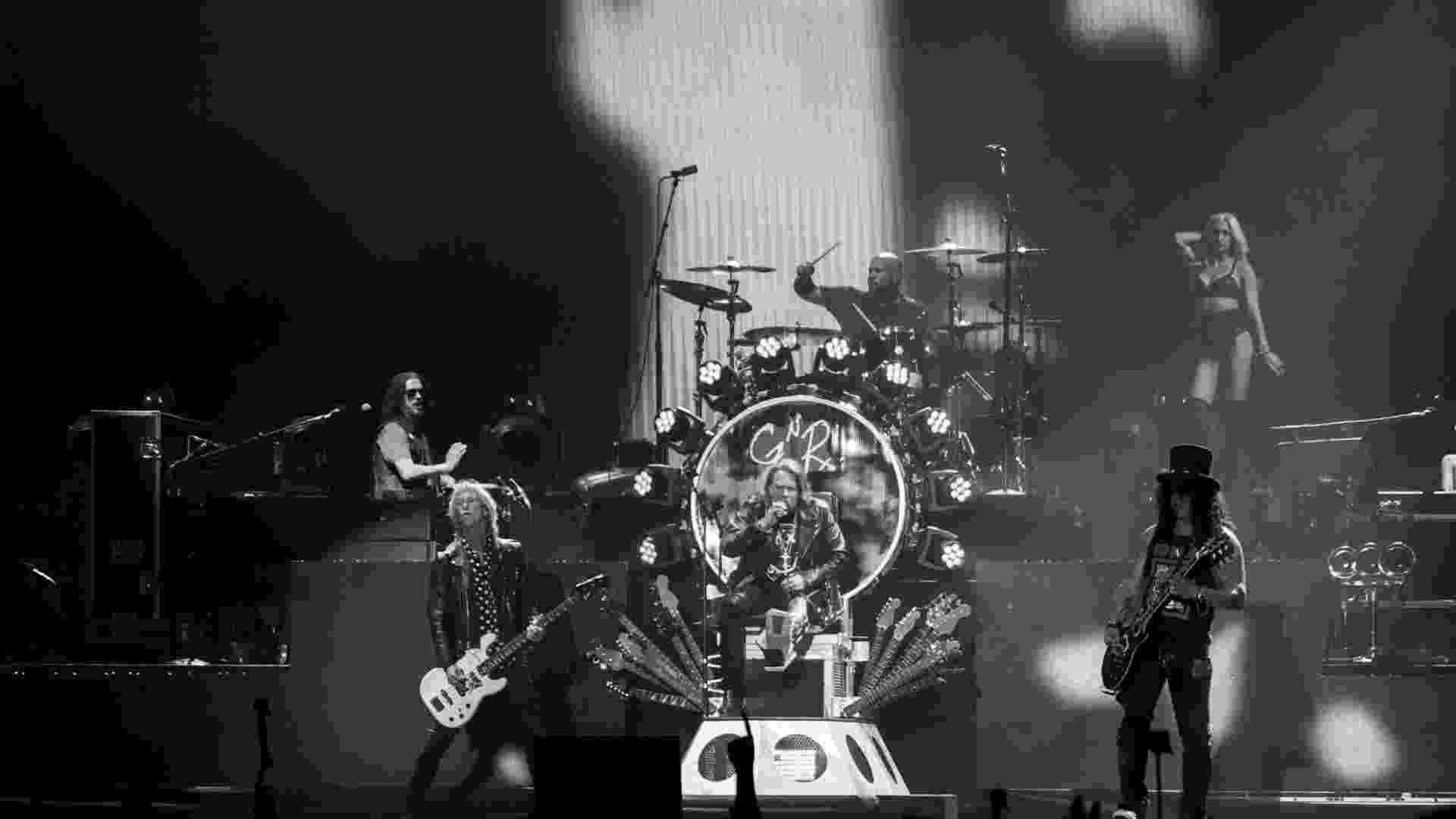 23.abr.2016 - Com a volta de Axl, Slash e Duff, Guns N? Roses toca no segundo fim de semana de Coachella, em Indio, na Califórnia - Divulgação