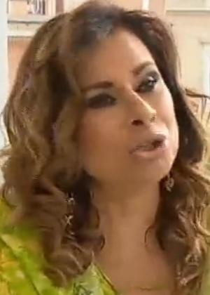 Lilian Ramos em entrevista para o apresentador Gugu Liberato, exibida pela Record na quarta (1º) - Reprodução/Record