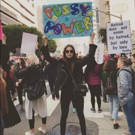 Thaila Ayala participa do protesto Marcha das Mulheres nos Estados Unidos - Reprodução/Instagram