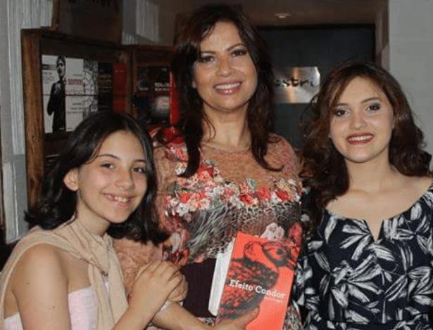 Isadora Ribeiro com as filhas, Valentine e Maria