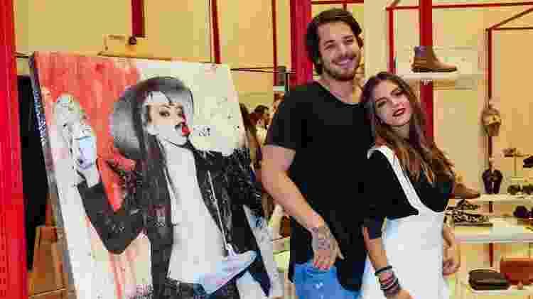 Giovanna Lancellotti com o namorado, Gian Luca, em evento em São Paulo  - Manuela Scarpa/Brazil News - Manuela Scarpa/Brazil News