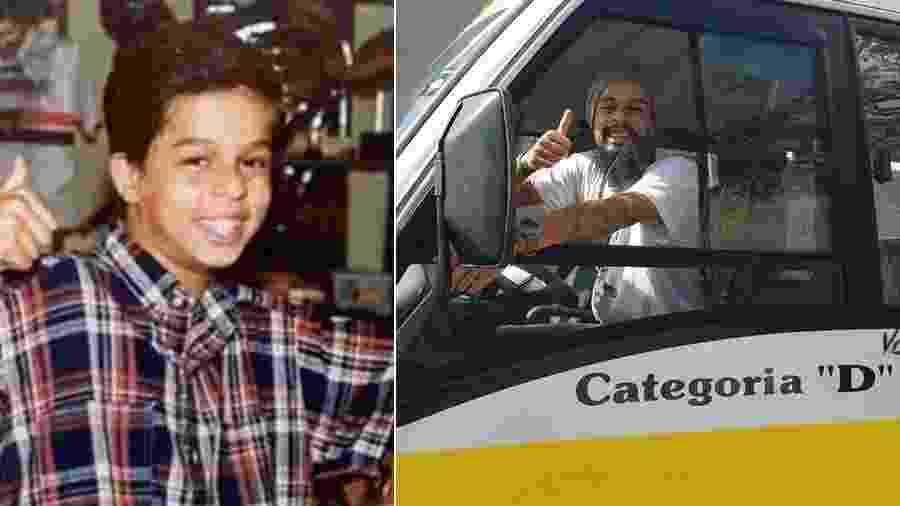 Pierre Bittencourt realiza sonho de infância e tira carta de motorista de ônibus - Montagem/Reprodução/SBT/Facebook/Pierre Bittencourt