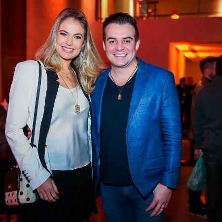 Belutti, da dupla com Marcos, com a mulher Thais Pacholeck vão ao aniversário com Denilson, em São Paulo - Manuela Scarpa/Brazil News