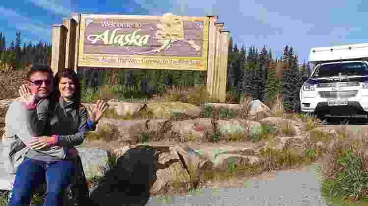 646a4f94d0 Amandio Palhares e Joselle Pinheiro realizando o sonho de chegar ao Alaska  Imagem  Arquivo pessoal