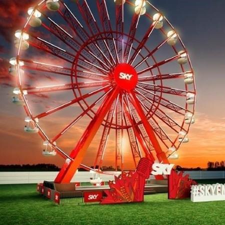 Projeção da nova roda-gigante do Lollapalooza, que em 2018 acontece nos dias 23, 24 e 25 de março - Divulgação