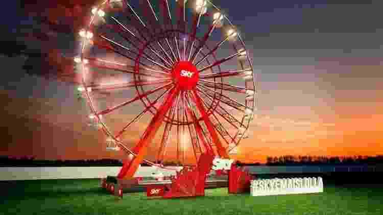 Projeção da nova roda-gigante do Lollapalooza, que em 2018 acontece nos dias 23, 24 e 25 de março - Divulgação - Divulgação