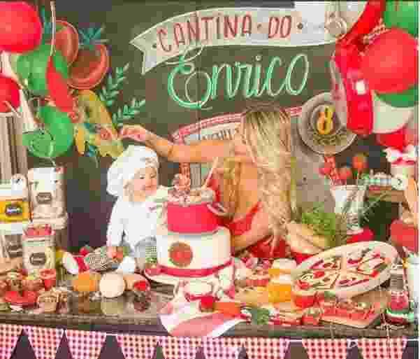 Enrico Bacchi completa oito meses e Karina Bacchi organiza festa para filho - Reprodução/Instagram/enricobacchi/fabiocerati