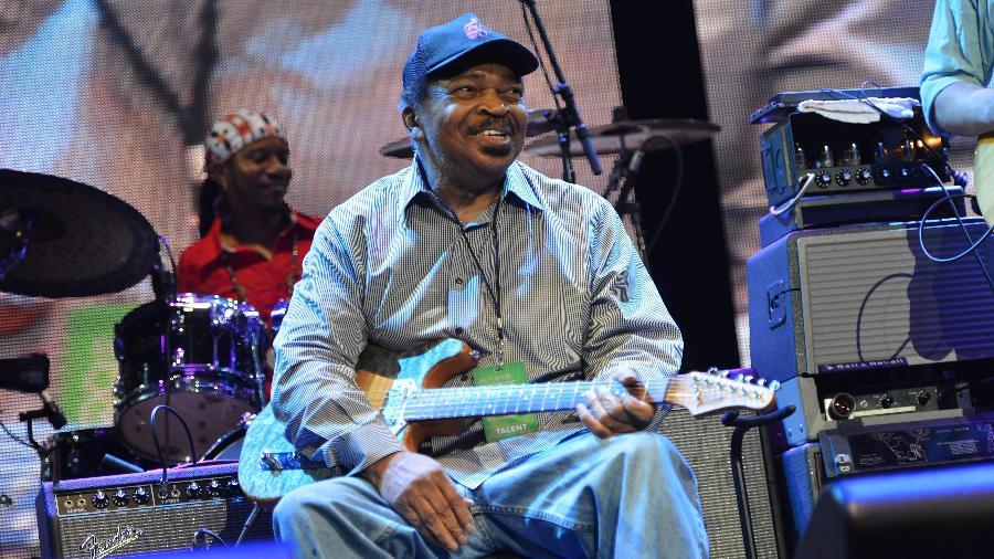 """Matt """"Guitar"""" Murphy em apresentação em 2013 - Larry Busacca/Getty Images"""