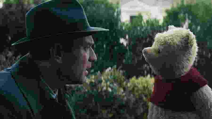"""Ewan McGregor contracena com Pooh em """"Christopher Robin: Um Reencontro Inesquecível"""" - Reprodução"""