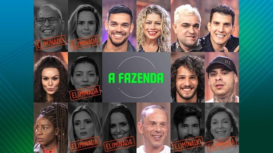 """Os participantes que continuam em """"A Fazenda 10"""" após expulsão de Nadja Pessoa  - Edu Moraes/Record TV"""