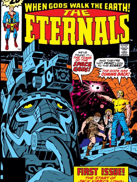 """Capa da HQ de """"Os Eternos"""" - Reprodução - Reprodução"""