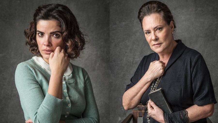 """Vanessa Giácomo e Elizabeth Savalla são Stella e Mirtes em """"O sétimo guardião"""" - João Cotta/ TV Globo"""