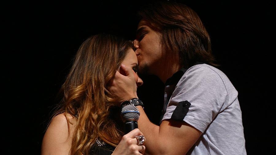 Sandy & Junior, no show de despedida da dupla no Credicard Hall, em São Paulo, em 18 de dezembro de 2007 - Alex Almeida/Folhapress