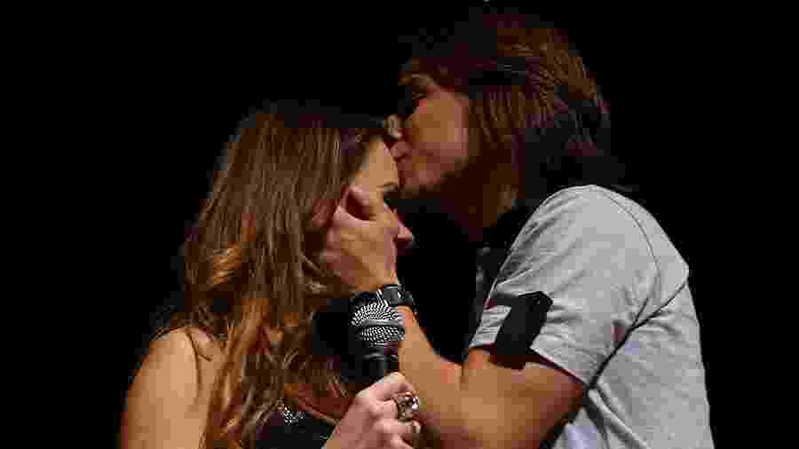 Sandy & Junior, no show de despedida da dupla no Credicard Hall, em São Paulo, no show de despedida da dupla, em 18 de dezembro de 2007 - Alex Almeida/Folhapress