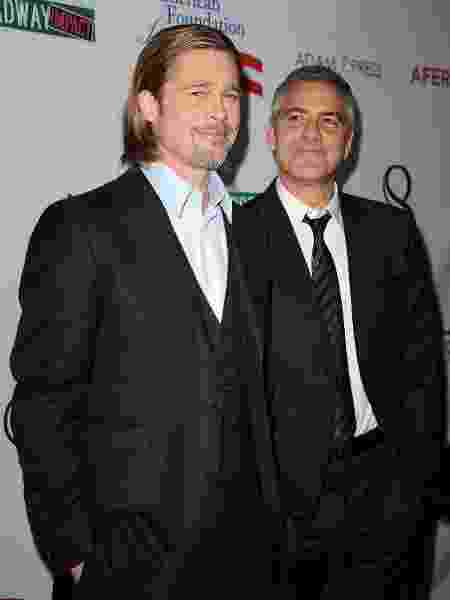 Brad Pitt e George Clooney - Jason LaVeris/FilmMagic