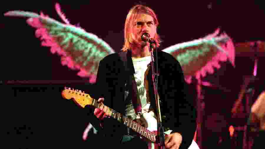 Kurt Cobain em show do Nirvana no final de 1993 - Jeff Kravitz/FilmMagic