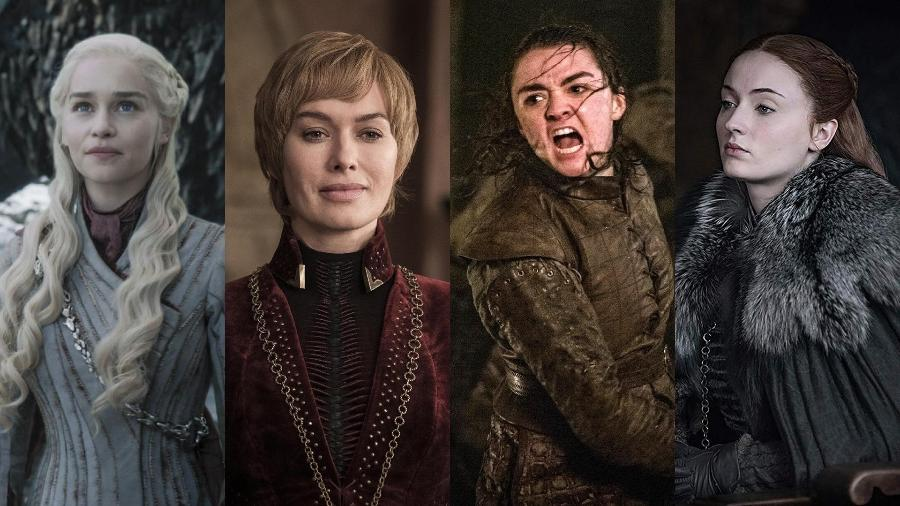 """Daenerys, Cersei, Arya e Sansa: as mulheres poderosas de """"Game of Thrones"""" - Divulgação e Montagem/UOL"""