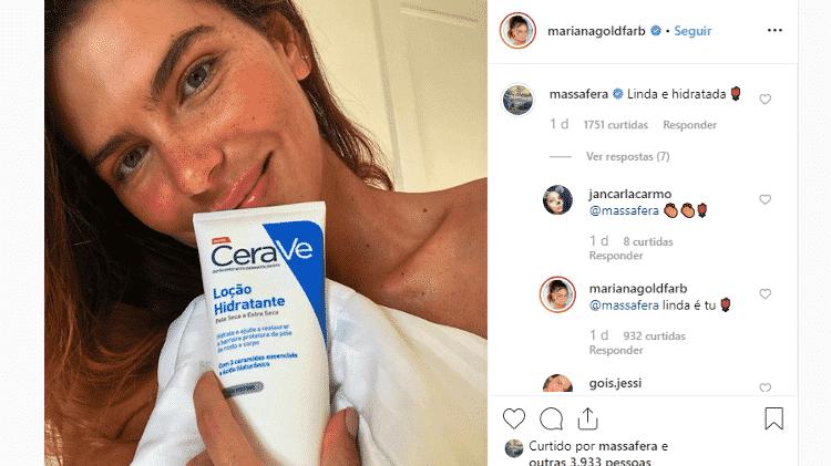 Grazi Massafera elogia foto de Mariana Goldafarb, que retribui - Reprodução/Instagram