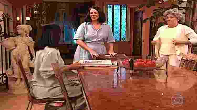 Rosane Gofman em cena de Por Amor como a empregada Tadinha - Reprodução/Globo