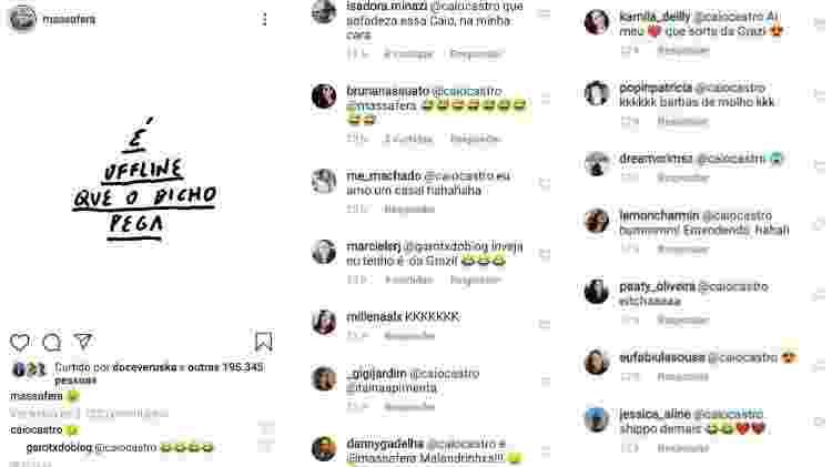 Caio Castro comenta post de Grazi Massafera e fãs piram - Reprodução/Instagram