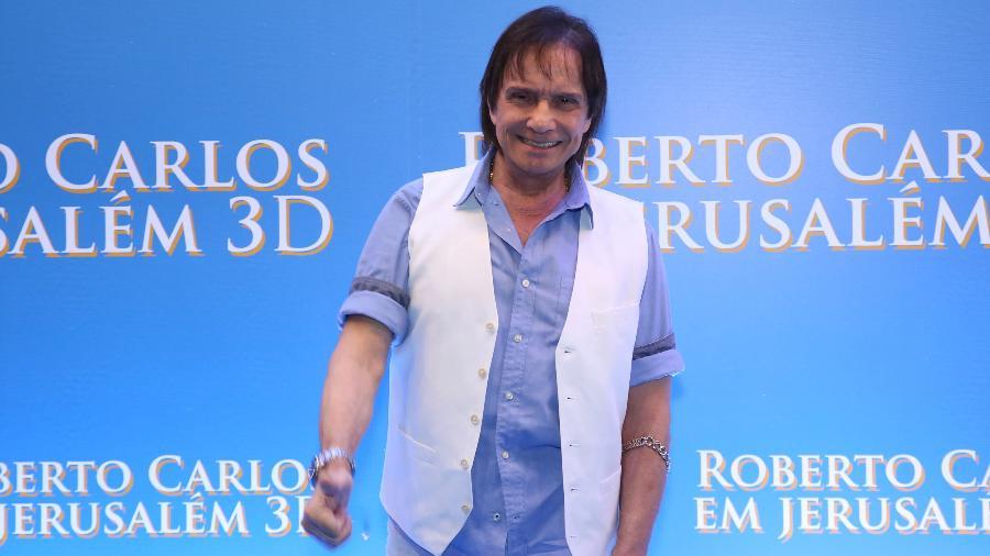 "02.dez.2019 - Roberto Carlos na sessão especial de ""Roberto Carlos em Jerusalém 3D"" - Roberto Filho/Brazil News"