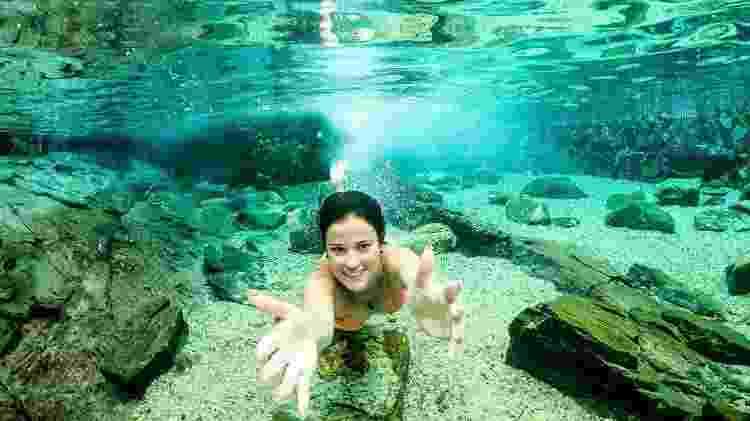Parque das Fontes: piscinas de águas quentes correntes - Divulgação
