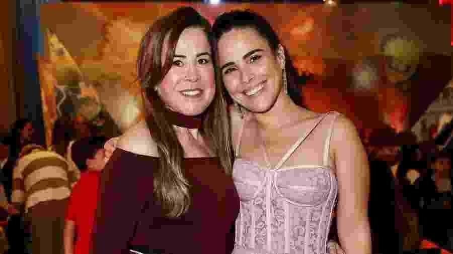 Zilú Camargo com Wanessa Camargo, em festa do neto José Marcus - Manuela Scarpa e Marcos Ribas/Brazil News