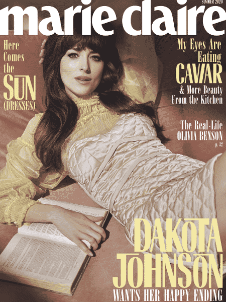 """Dakota Johnson na capa da edição """"Summer 2020"""" da revista Marie Claire americana - Divulgação"""
