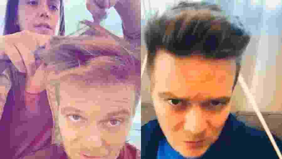 Thais Fersoza cortando cabelo de Michel Teló - Reprodução/Instagram