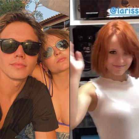 Ruiva e com o cabelo curto, Larissa Manoela ganhou elogios do namorado, Léo Cidade  - Reprodução / Instagram