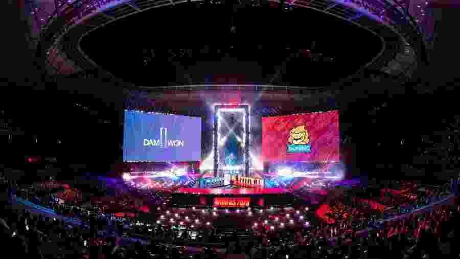 Final do Mundial de League of Legends em Xangai, na China - Riot Games/Divulgação