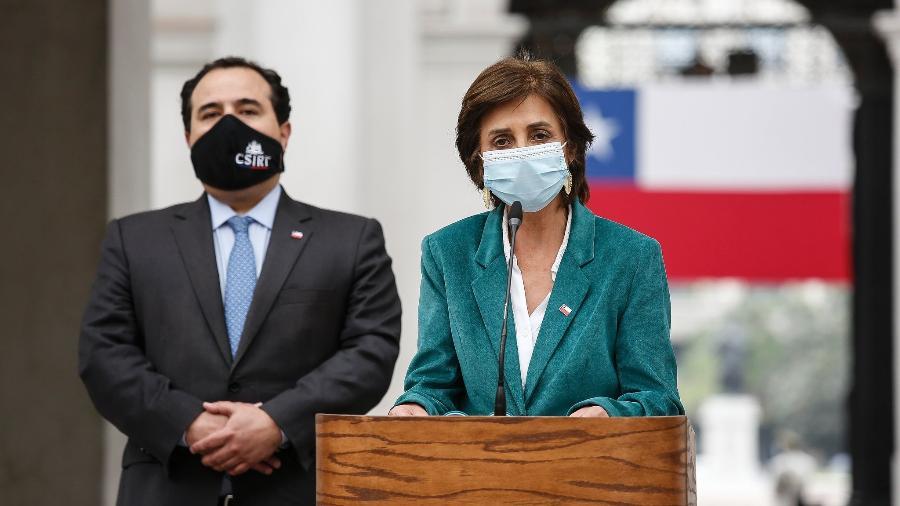 Paula Daza, Subsecretária de Saúde Pública do Chile, anunciou as novas medidas que valem a partir de quinta (25): preocupação com a variante de Manaus - Alejanda de Lucca V.