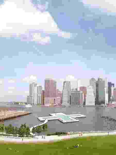 A piscina será instalada ao norte da ponte de Manhattan - + POOL - + POOL