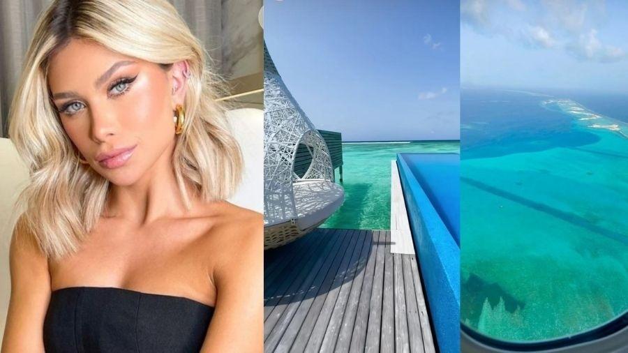 Flávia Pavanelli aproveita férias nas Maldivas - Reprodução/Instagram