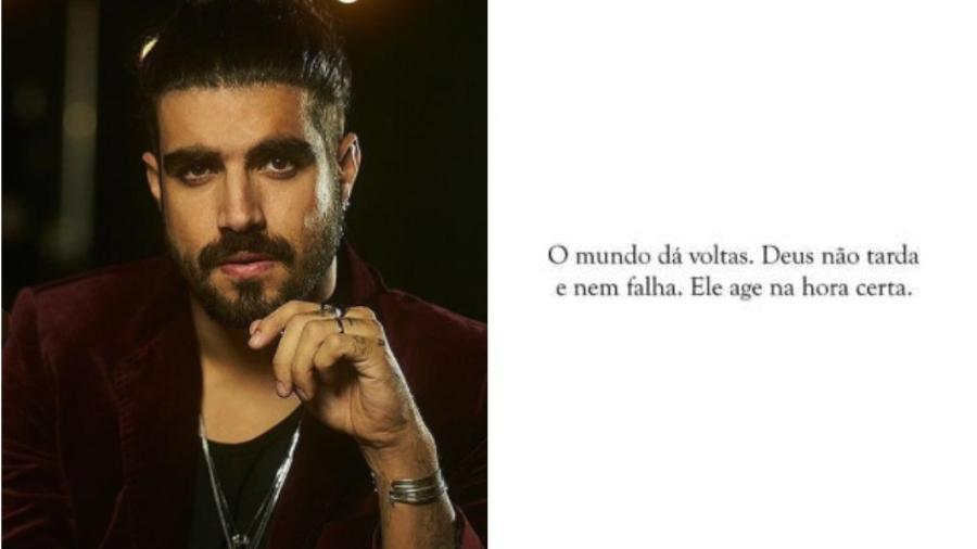 Caio Castro deixa mensagem no Instagram após término do namoro com Grazi Massafera - Reprodução/Instagram @caiocastro