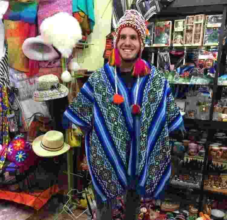 Registro da viagem feita por Fernando ao Peru - Arquivo Pessoal - Arquivo Pessoal