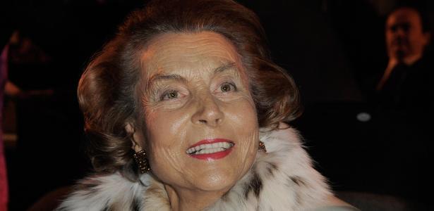 """Liliane Bettencourt, herdeira da L""""Oréal, em foto de 2009 - Getty Images"""