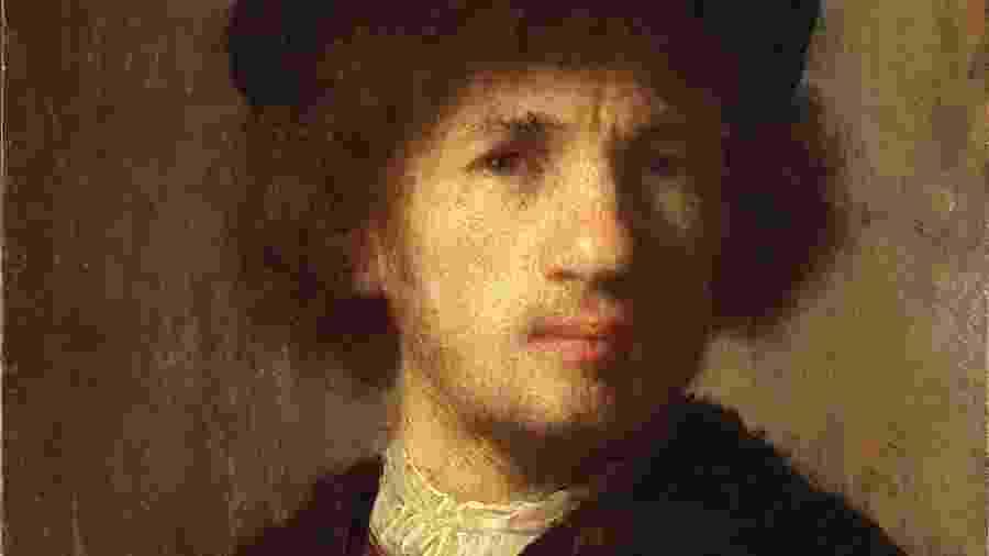 Autorretrato do mestre holandês Rembrandt, roubado do Museu Nacional da Suécia em assalto armado ocorrido em 22 de dezembro de 2000, em Estocolmo, na Suécia - Divulgação
