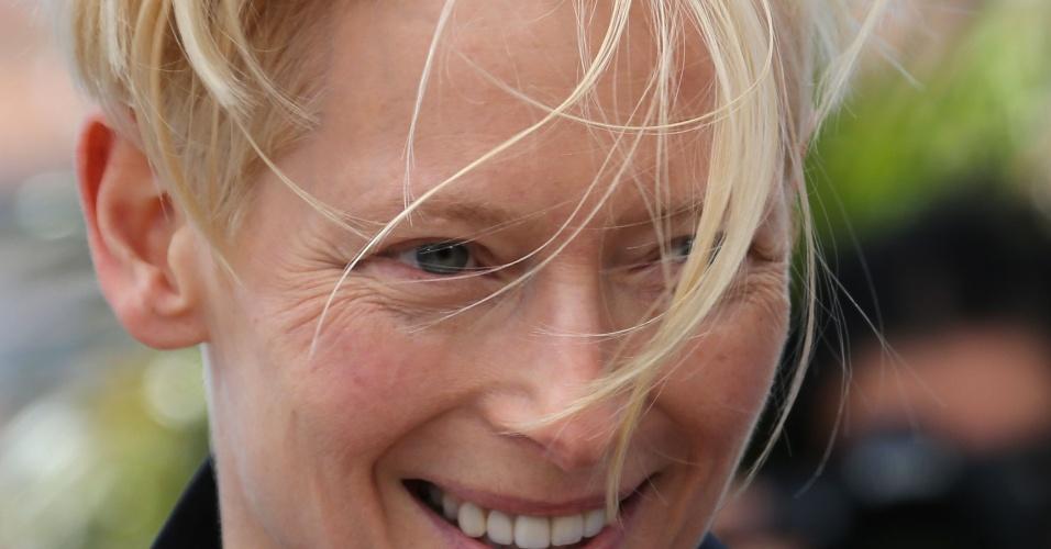 25.mai.2013 - Tilda Swinton divulga o filme