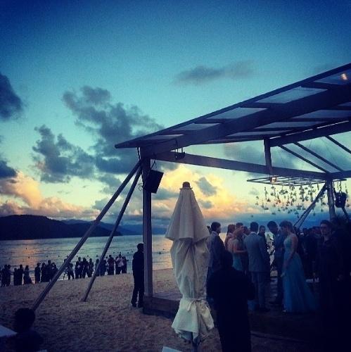 25.maio.2013 - Detalhes do casamento entre Paulo Henrique Ganso e Giovanna Costi Gonçalves foram divulgados na internet pelos convidados